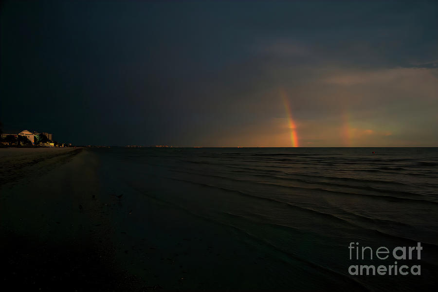 Fort Myers Beach Photograph - When Your Sky Darkens, Look For The Rainbow, Fort Myers Beach, Florida by Felix Lai
