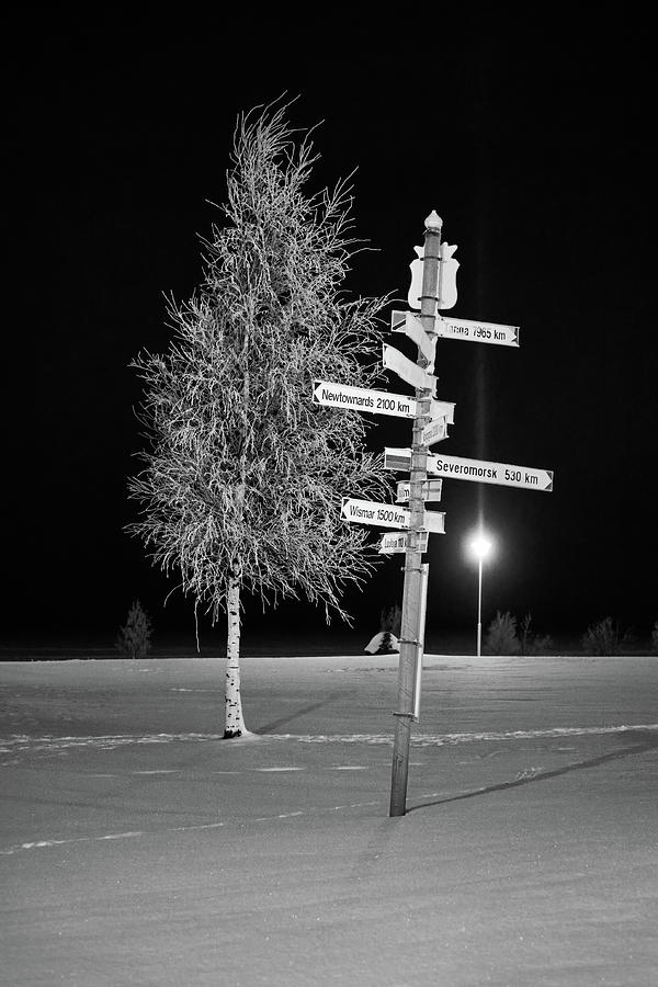 Where To Go Next . Long Distance Bw Photograph