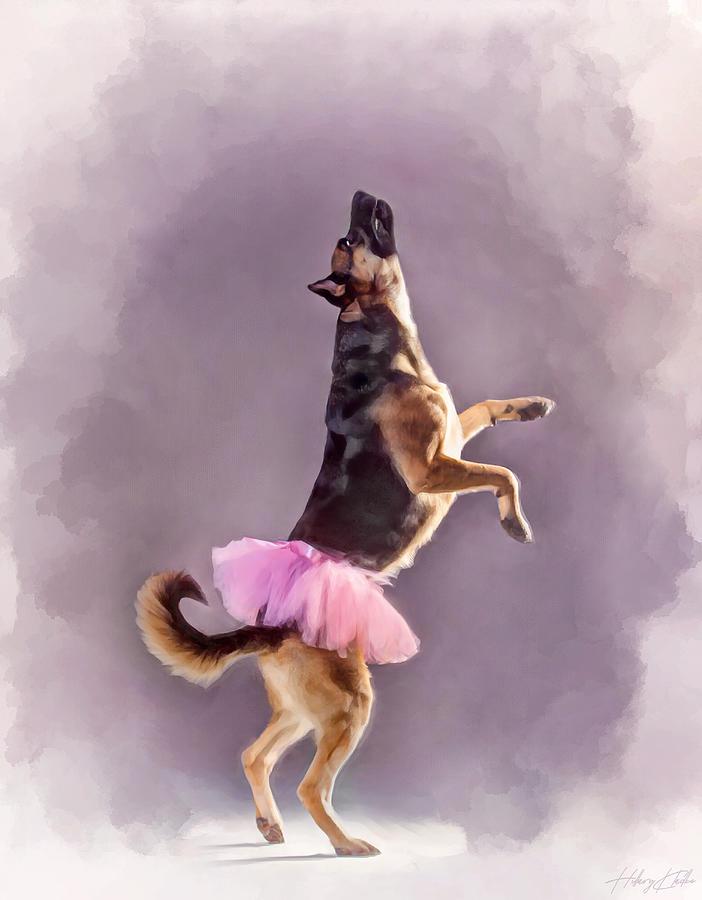 Whimsical Shepherd Ballerina Painting