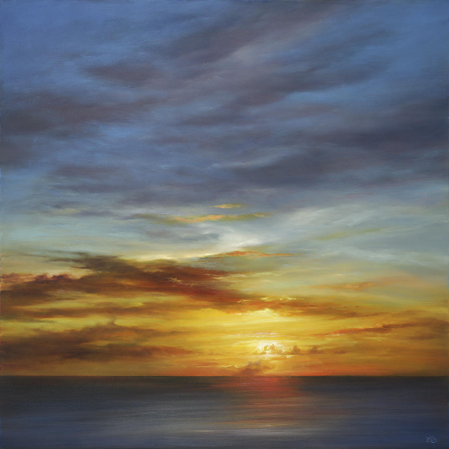 Sunset Painting - Whisper to me by Cheryl Kline
