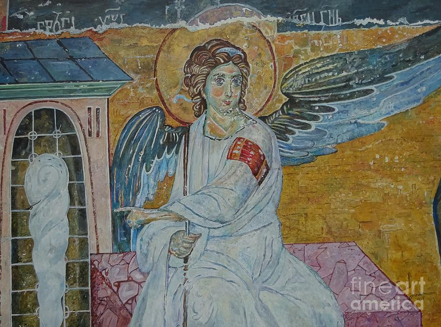 White Angel Painting - White Angel by Sinisa Saratlic