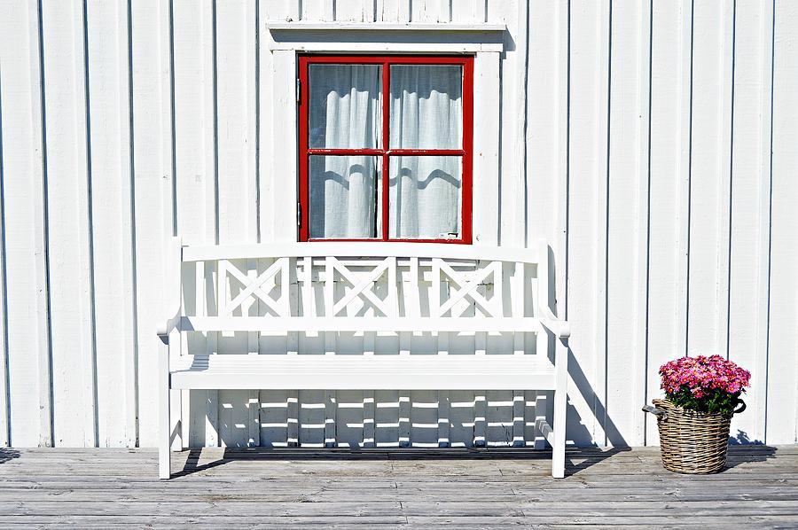 White Bench by Thomas Schroeder
