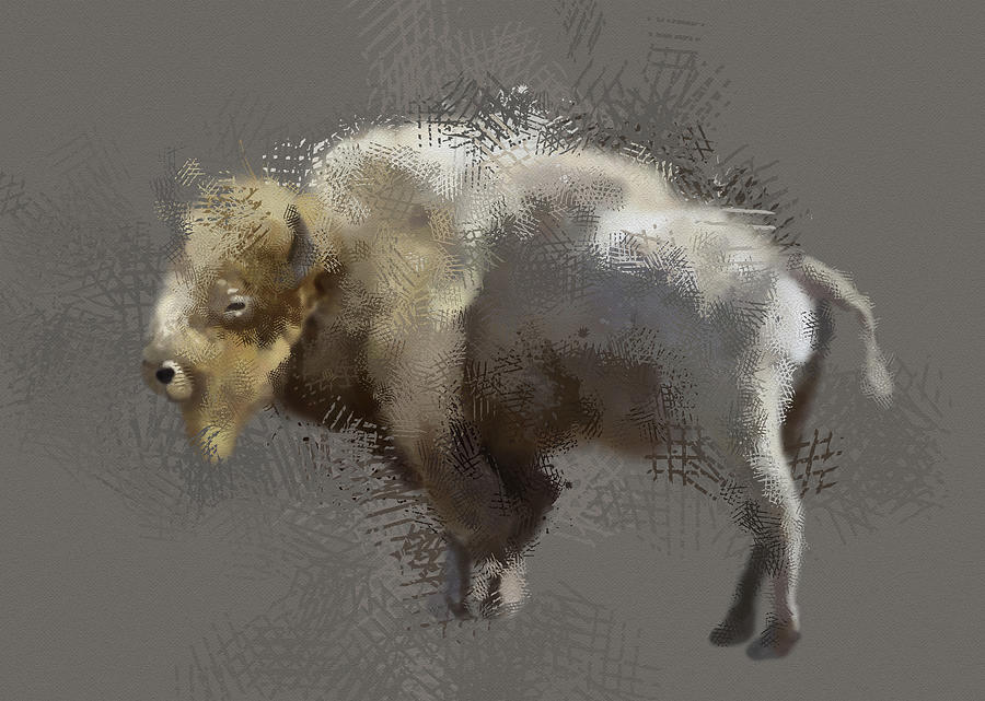 White Buffalo V3 Digital Art