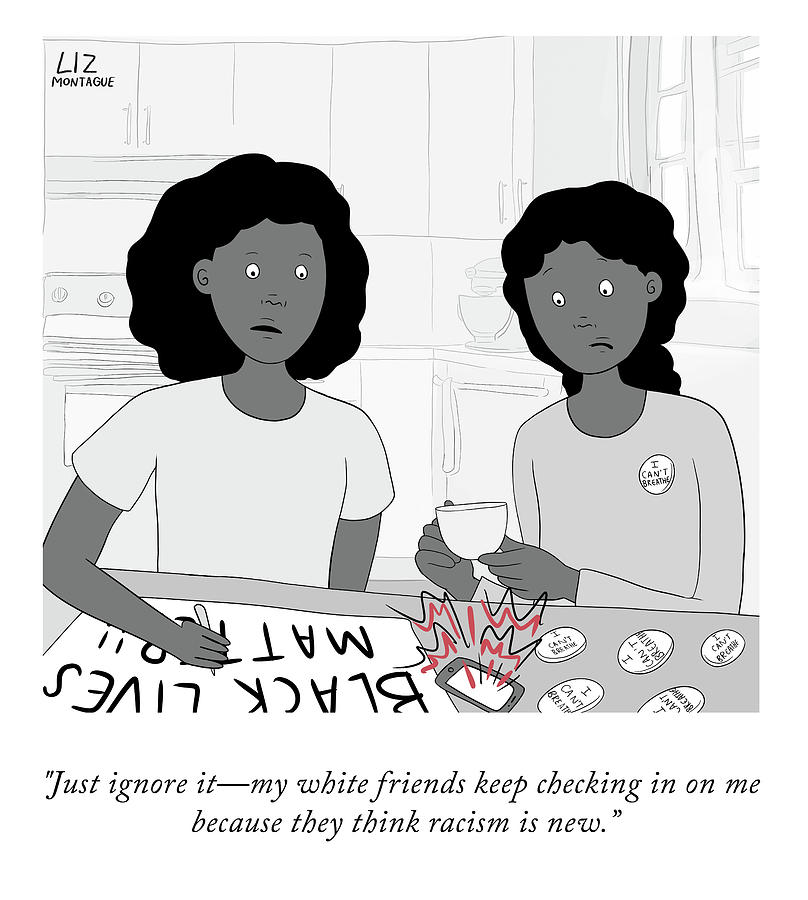 White Friends Drawing by Liz Montague