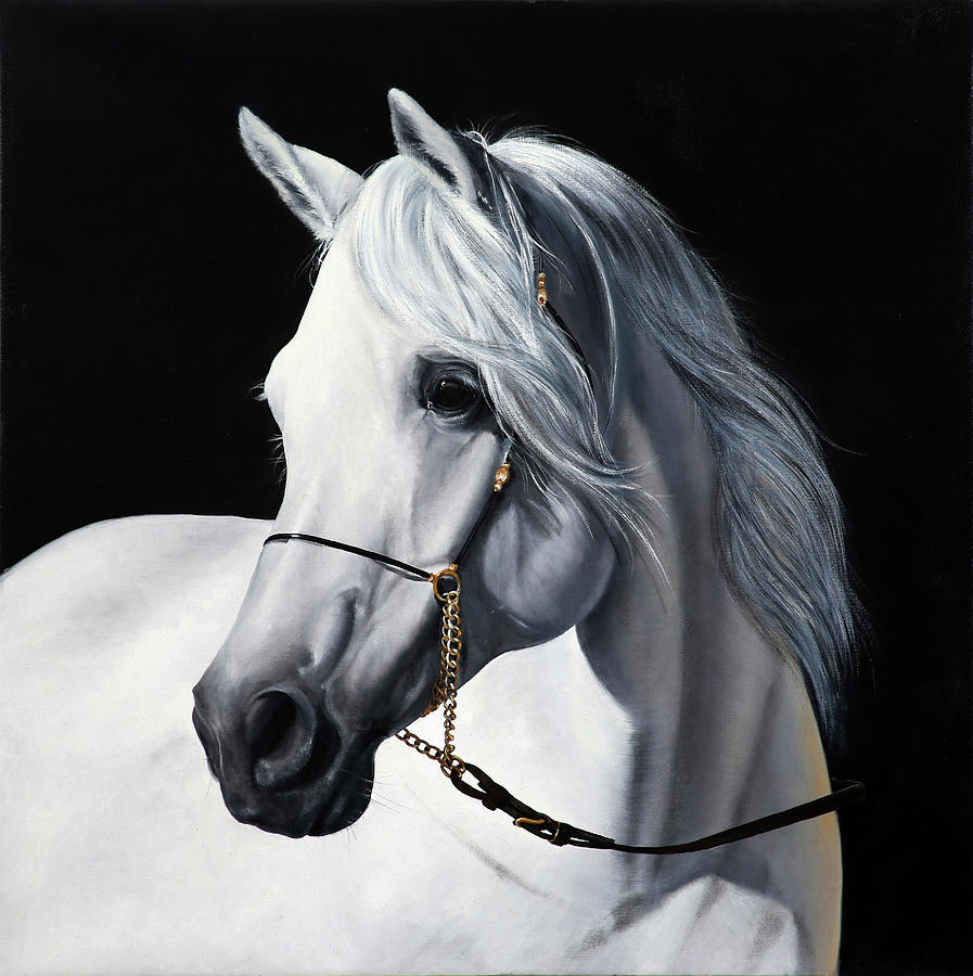 White Horse Painting - White Horse by Guido Borelli