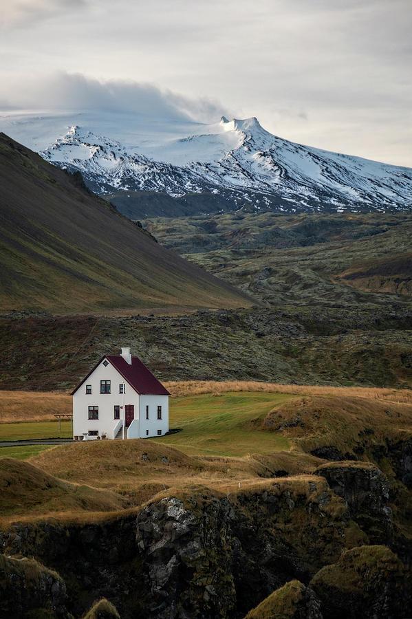 White House at Arnarstapi Iceland by Catherine Reading