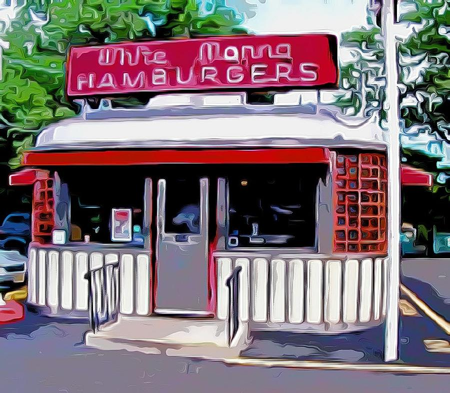 Burgers Mixed Media - White Manna Burgers by Bellino