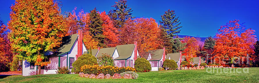 White Mountain National Forest Franconia Notch Cottages New Hamp by Tom Jelen