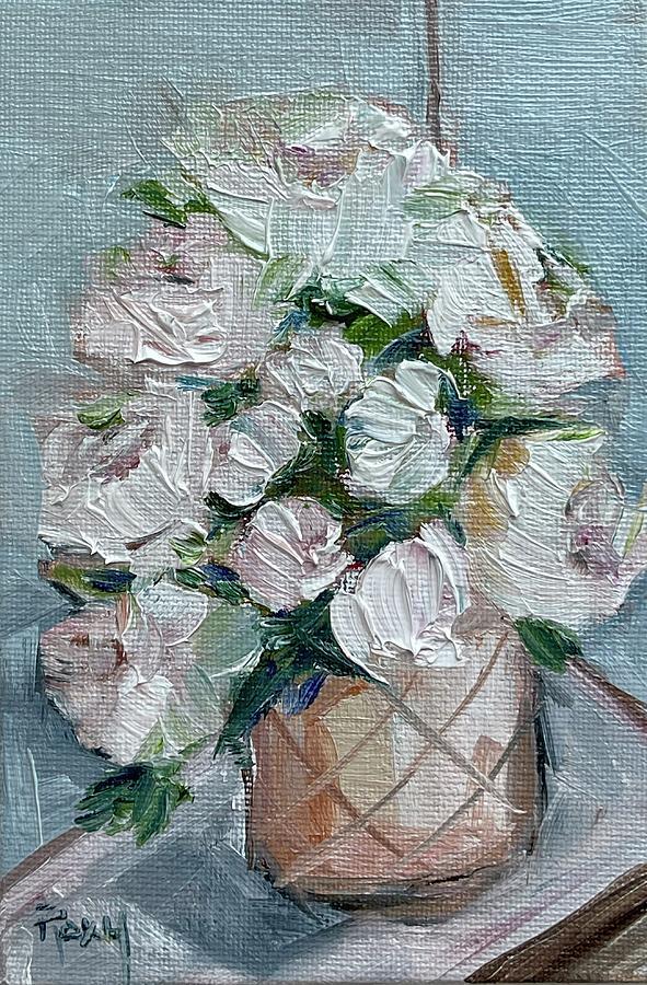 White Peonies Painting