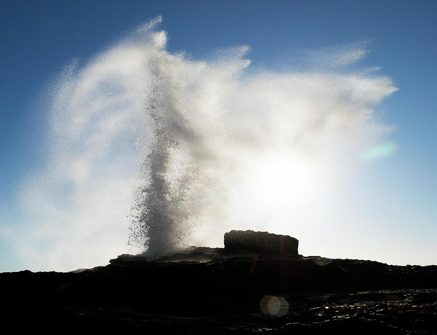Pacific Photograph - White Point Erupts by Joe Schofield