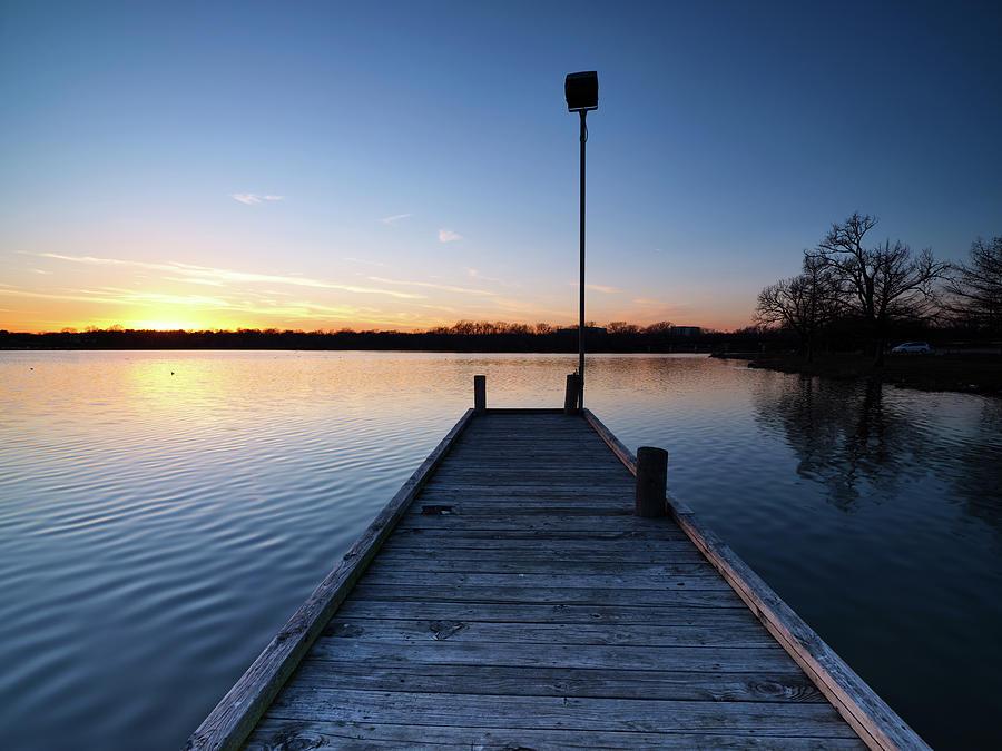 White Rock Lake Sunset V 2 012020 by Rospotte Photography