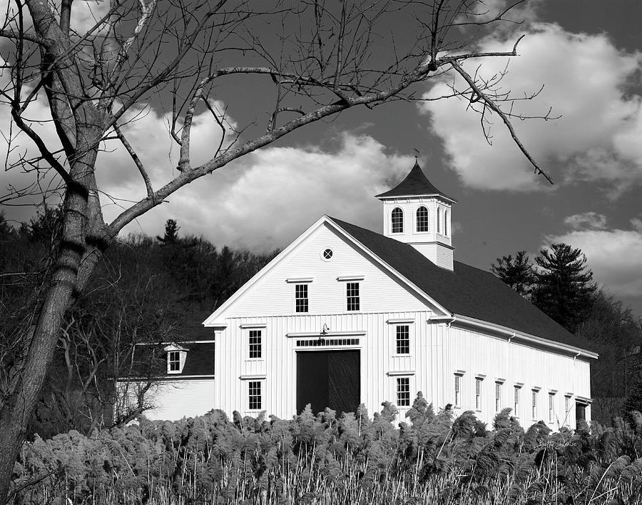 White Rural Barn by Betty Denise