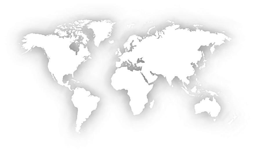 White Silhouette Of World Map Digital Art
