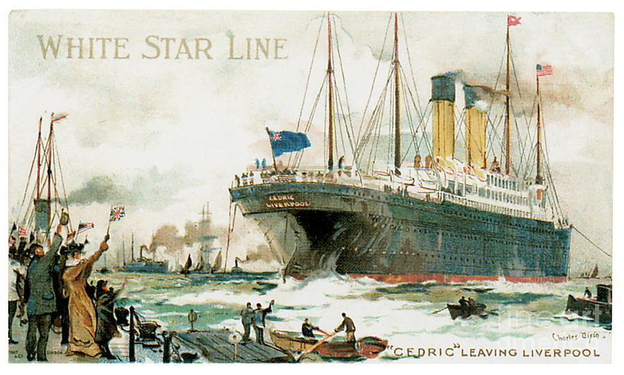 White Star Line Rms Cedric Travel Poster Painting