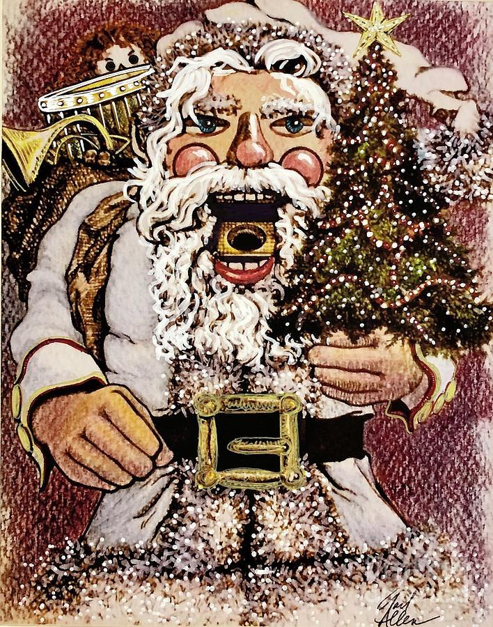 White Suit Santa Nutcracker by Gail Allen
