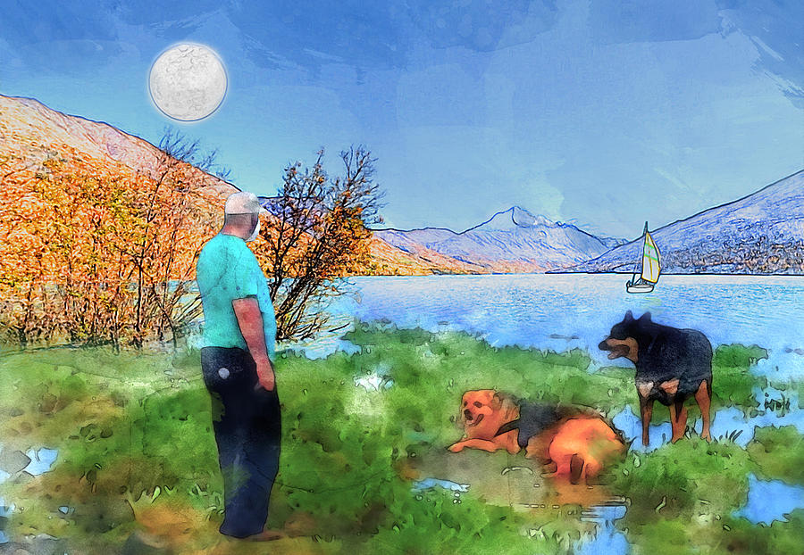 Who Let The Dogs Out Digital Art