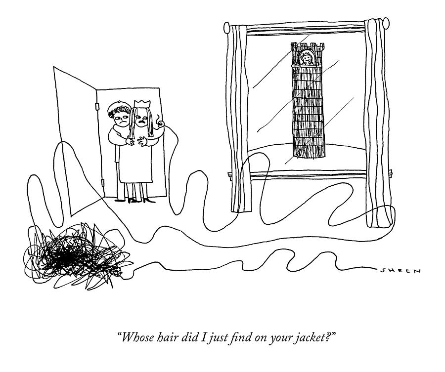 Whose Hair Did I Just Find? Drawing by Justin Sheen