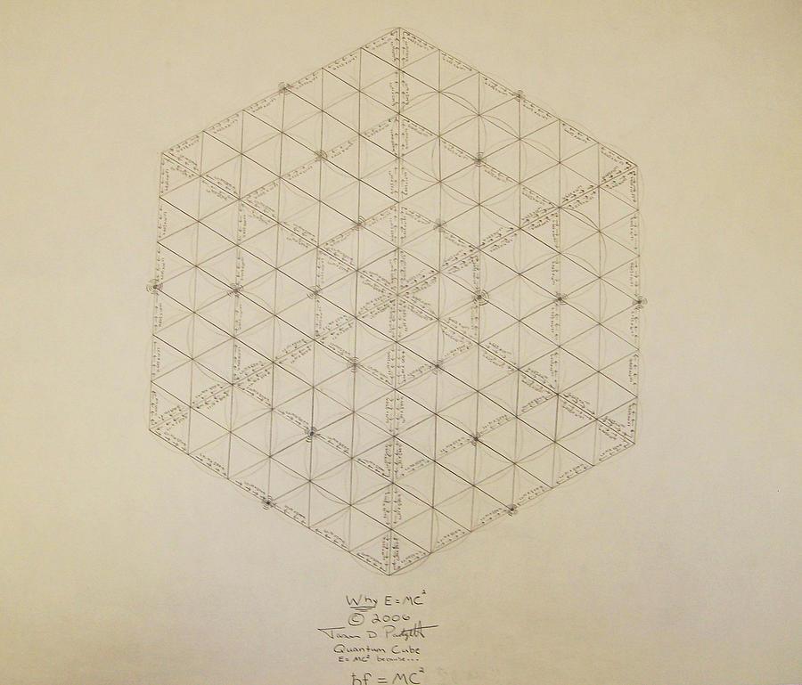 Jason Padgett Drawing - Why E equals MC2 by Jason Padgett