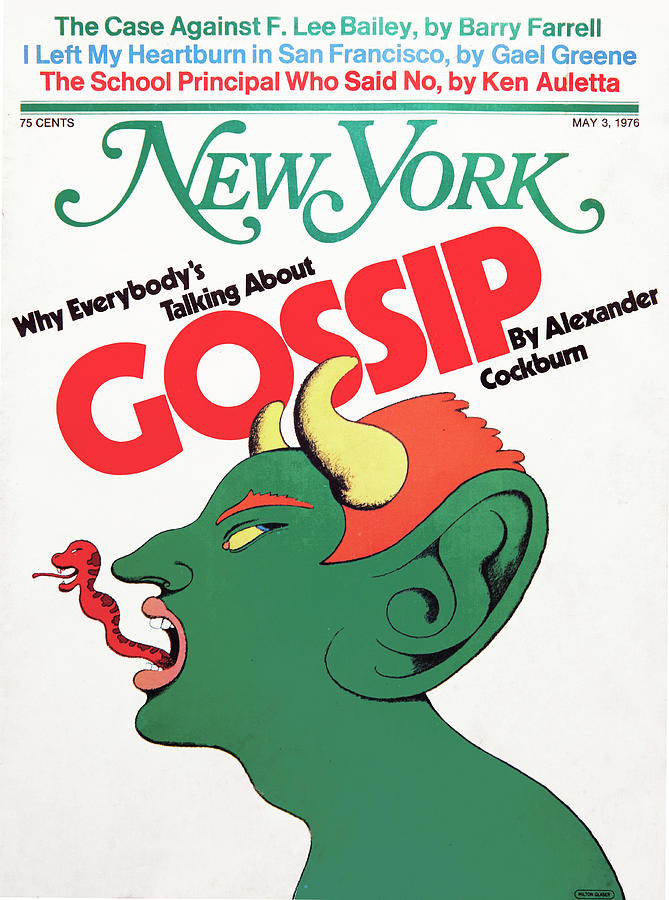 Milton Glaser Drawing - Why Everybodys Talking About Gossip by Milton Glaser