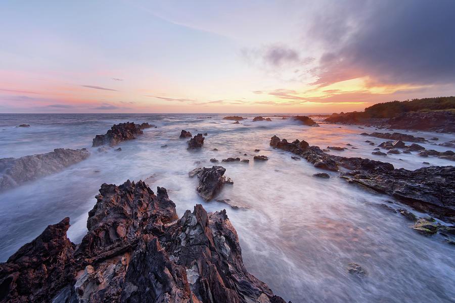 Beach Photograph - Wild coast in the evening light by Ralf Lehmann