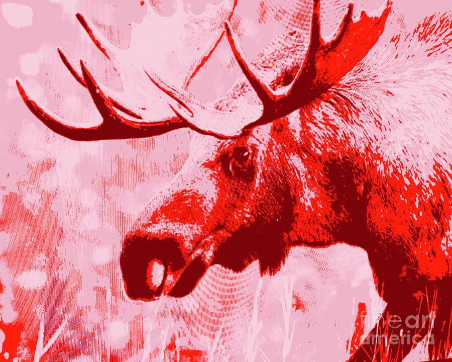 Moose Painting - Wild Moose by Jack Bunds