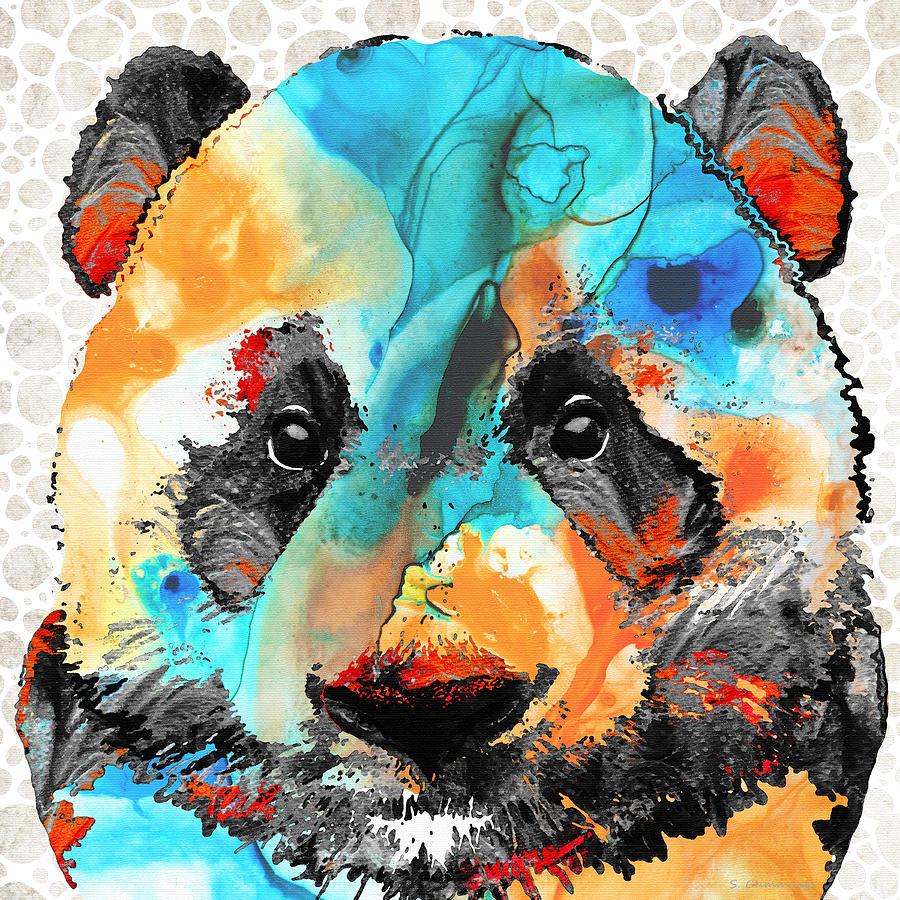 Panda Painting - Wild Panda Bear Art - Sharon Cummings by Sharon Cummings