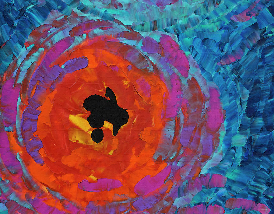 Abstract Painting - Wild Poppy - Colorful Flower Art - Sharon Cummings by Sharon Cummings