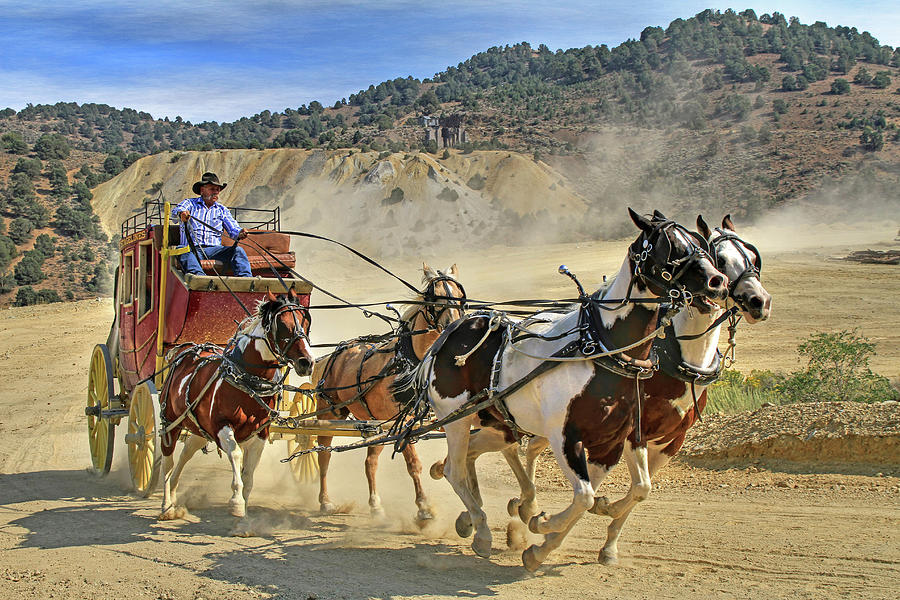 Stagecoach Photograph - Wild West Ride by Donna Kennedy