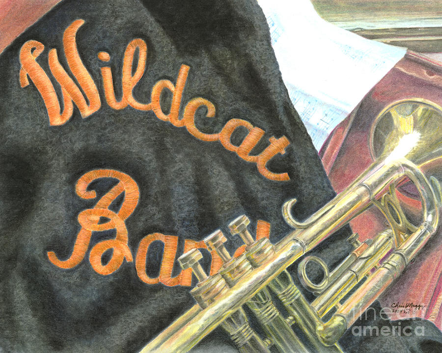 Wildcat Band Pastel Pastel by Chris Naggy