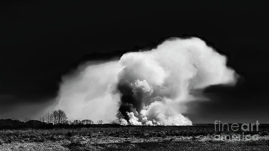 Wildfire Photograph - Wildfire On The Prairie by Felix Lai
