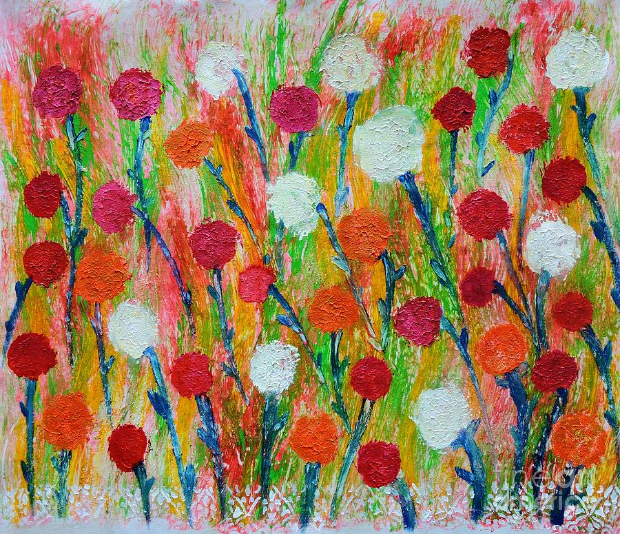 Wildflower Abstract Large Painting