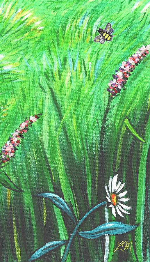 Wildflower Garden Panel Three Of Three Painting
