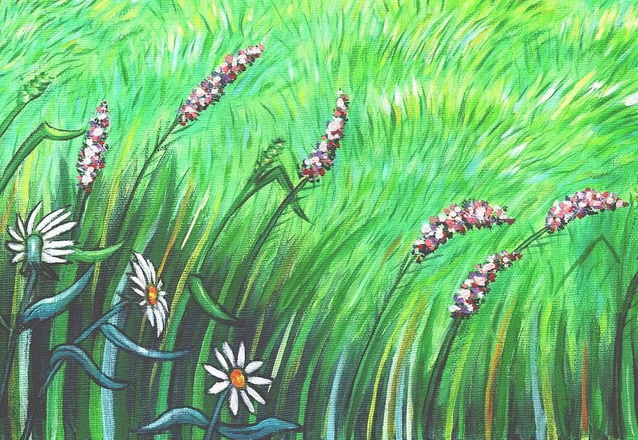 Wildflower Garden Panel Two Of Three Painting