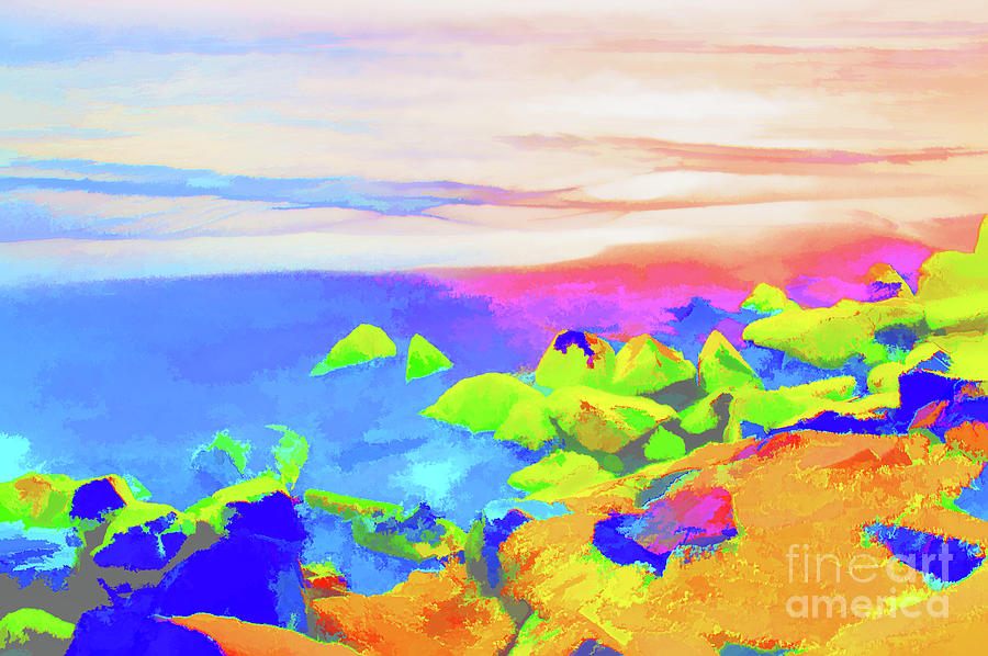 Wildwood Rocks Digital Painting by Robyn King