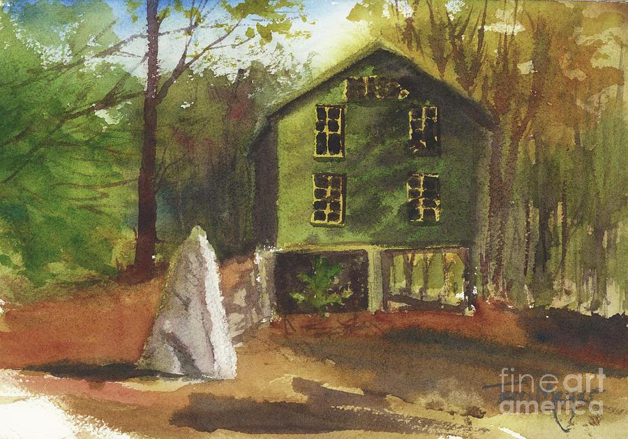 Wilhelm Barn At Evergreen Valley Resort, Stoneham Maine Painting
