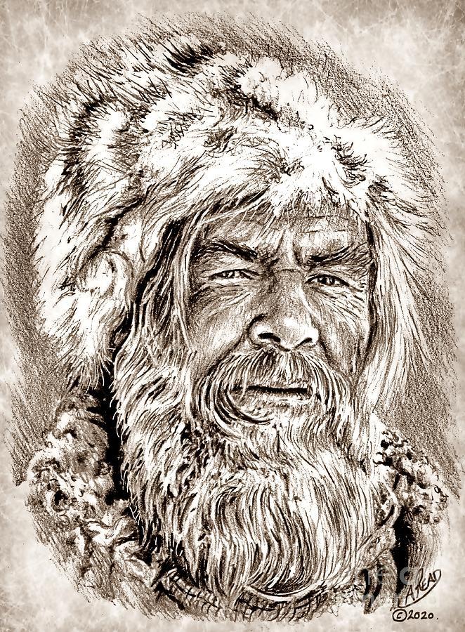 Will Geer Mountain Man Drawing
