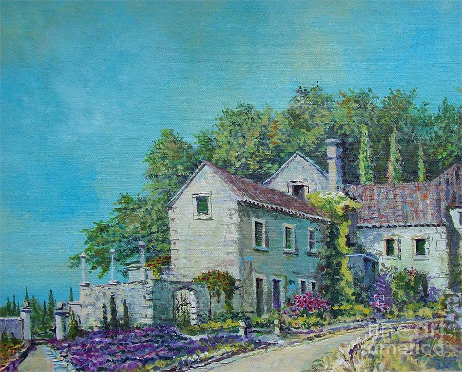 Mediterranean Painting - Village Vista by Sinisa Saratlic