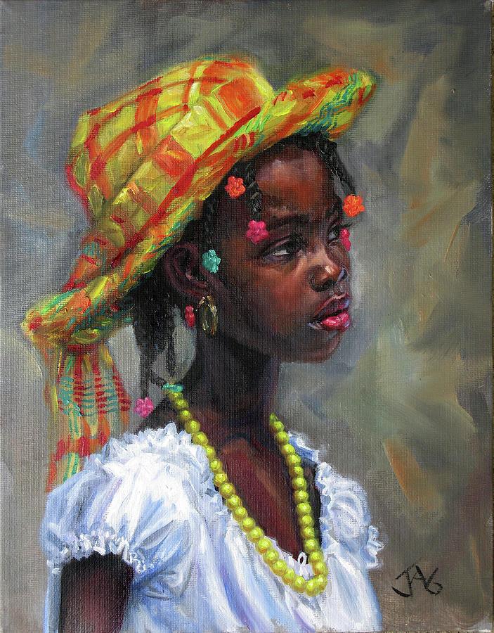 Caribbean Painting - Willia 9 by Jonathan Guy-Gladding JAG