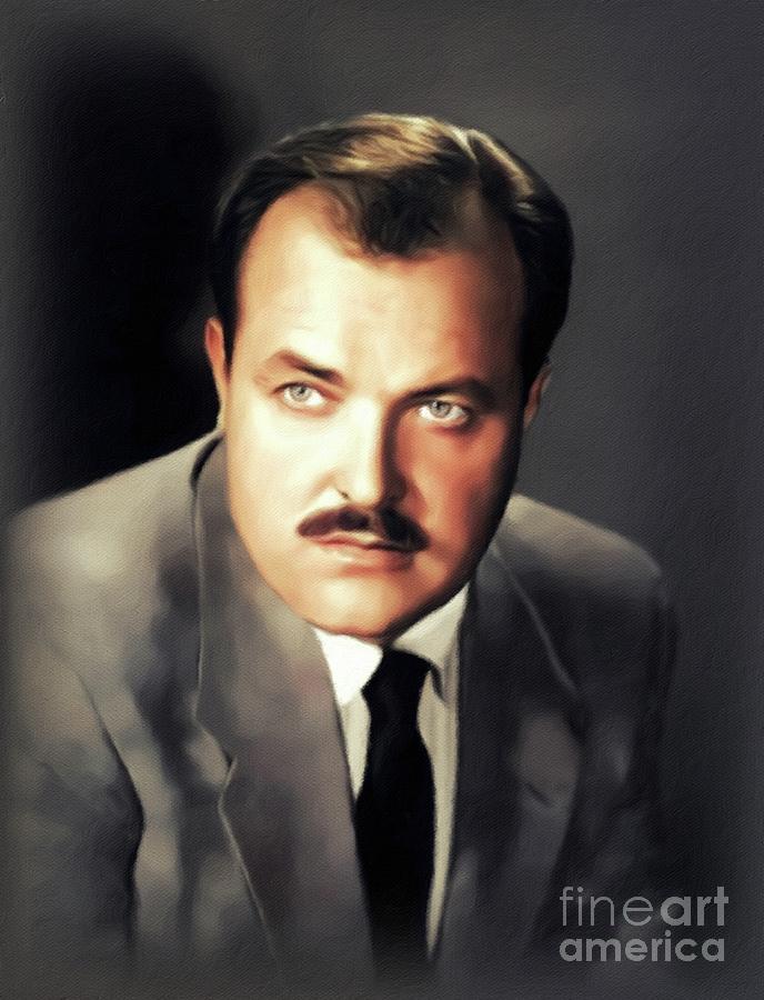 William Conrad, Vintage Actor Painting