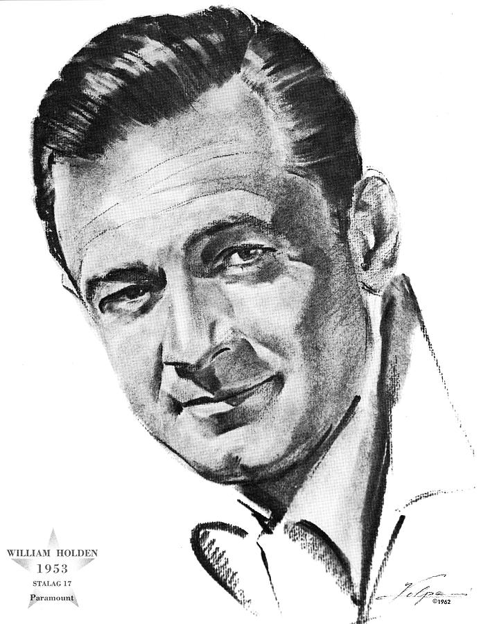 William Holden By Volpe Drawing