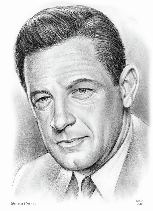 William Holden Drawing - William Holden - pencil by Greg Joens