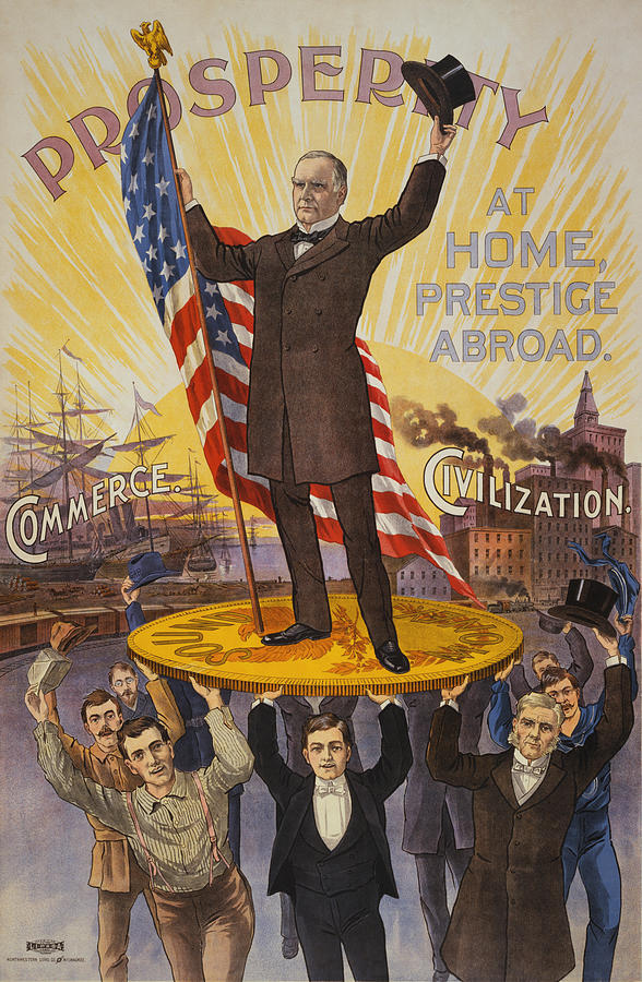 William McKinley Campaign Poster by War Is Hell Store