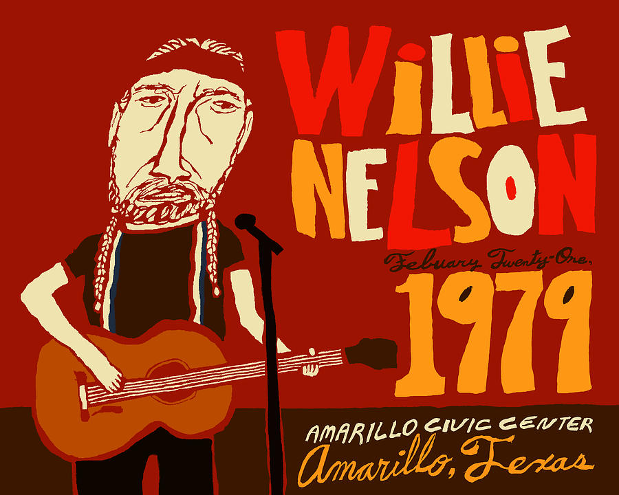 Willie Nelson Mixed Media - Willie Nelson Concert Poster by JB Perkins