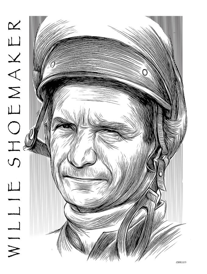 Willie Shoemaker Drawing