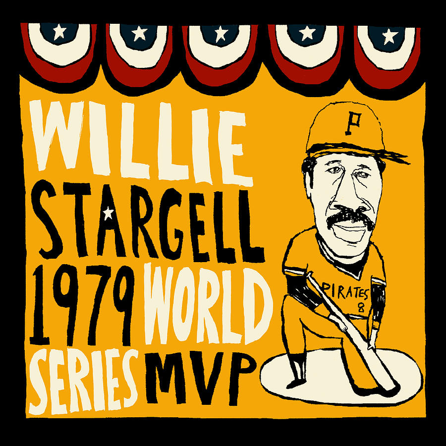Pittsburgh Pirates Painting - Willie Stargell Pittsburgh Pirates by JB Perkins