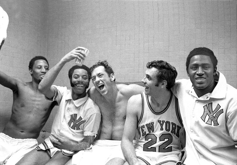 Willis Reed, Bill Bradley, And Walt Frazier Photograph by New York Daily News Archive
