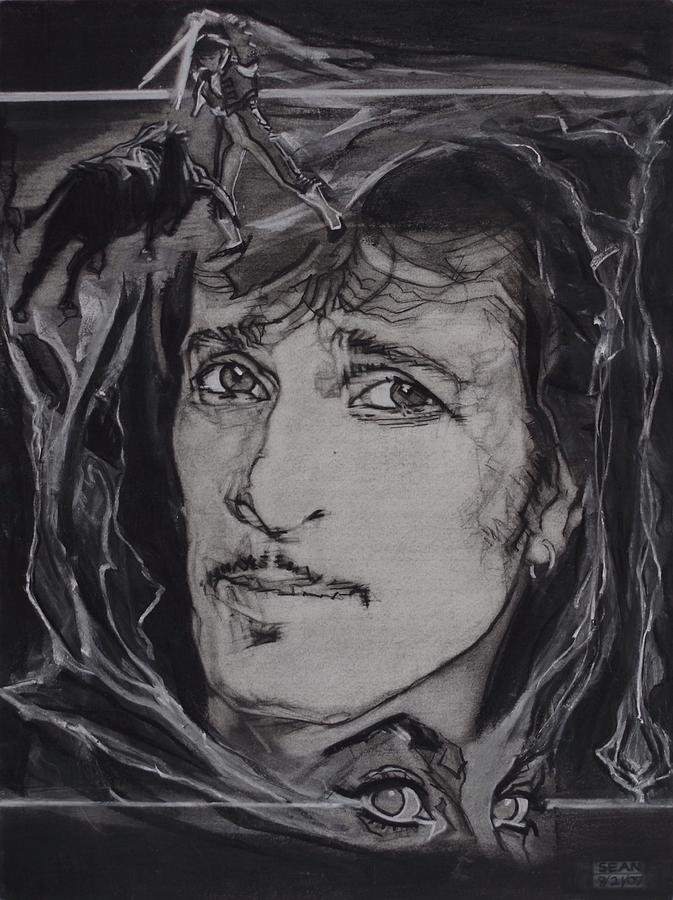 Mink Deville Drawing - Willy DeVille - Coup de Grace by Sean Connolly