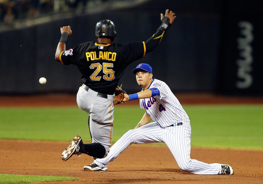 Wilmer Flores And Gregory Polanco Photograph by Jim Mcisaac