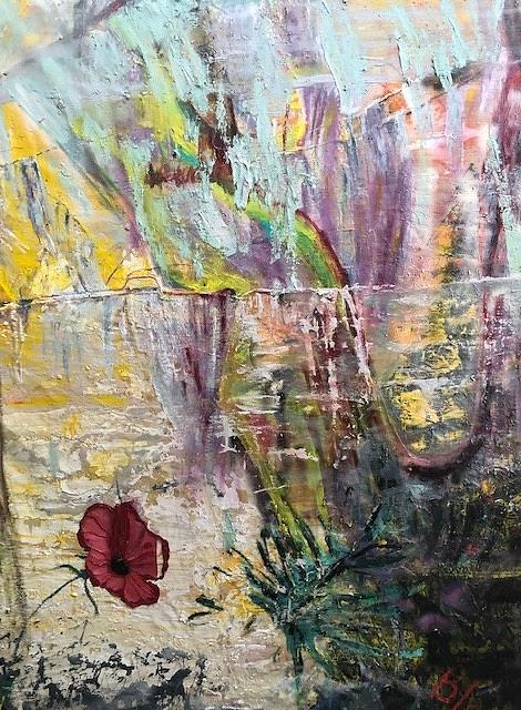 Flower Painting - Sunset on Wilmington    by Peggy Blood