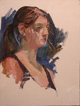 Figurative Painting - Wind Blown by Betty Jean Billups